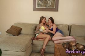 Smiling happy pussy licking lesbians