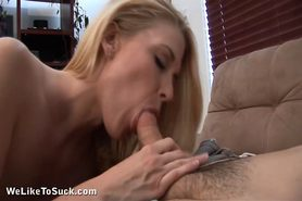 Alexandra licking a hard rod