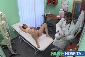 Doctor works his skills to remove sex toy from a tight puss...