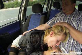Blonde Street Whore Banged in Car