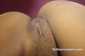 One horny Japanese babe  gets some jizz