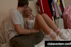 Pigtailed teen Ellen gets fucked