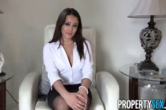 Hot realtor makes dirty homemade revenge sex video with client
