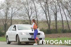 Bella Baby In Yoga Outfit Is Picked Up By BF