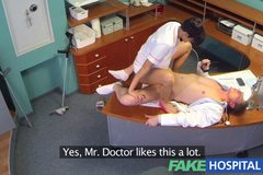 Dirty doctor gets his cock deep inside a sexy busty ex porn star during job interview
