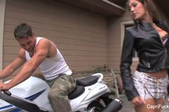 Capri Cavanni and The Biker