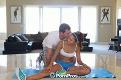 HD  -  Ariana Marie has her sore pussy massaged after her workout