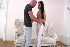Julia parks shaft in her bottom