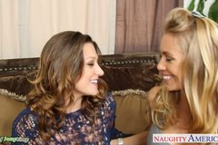 Hot chicks Carmen McCarthy and Nicole Aniston share cock