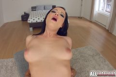 Big tit babe gets creampied