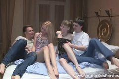 Teen swingers fuck together