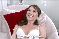 Awkward Kendra Khaleesi shoots her first ever porn scene