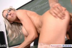 Sex teacher Emma Starr take cock in classroom