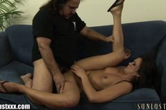 Ron Jeremy checks under Cece Stone's skirt and NO PANTIES!