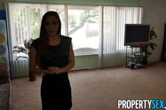 Client fucks hot petite realtor in homemade sex video