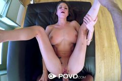 Dillion Carter with nice tits gets fucked in pov