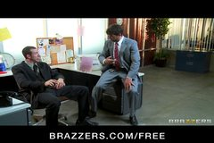 Brazzers - Busty slutty brunette India Summer is gangbanged