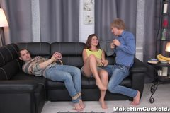 Bound cuckolding for cheating