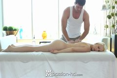 Hot and sexy massage for blonde Darcie Belle