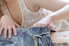 Blonde teen sperm splat