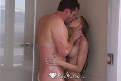 Shawna Lenee turns shower session into sexy fuck