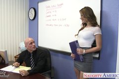 Slim geek Jillian Janson fucking