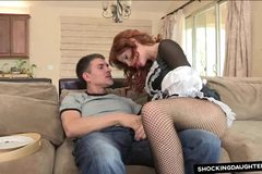 Redhead Maid Fucked Rough In Uniform By Her Boss