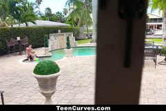 Curvy Petite Chanel Collins Gets Fucked By The Pool