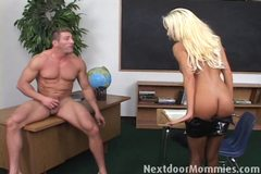 Blonde mom takes it anal