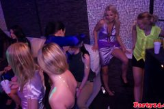 Teen amateurs party wild in sexy nightclub