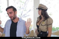 Busty Cop Cassidy Banks Likes It Rough!