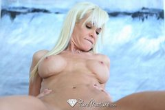 Hot blonde Mikki Lyn gets covered in cum