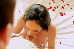 Brunette milf Bella gets ready for her man on Valentine's Day