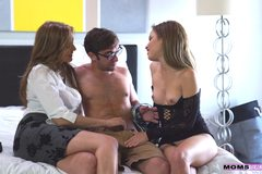 Milf fucks in hot threesome