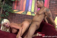 Nikita Von James Gets A Black Cock
