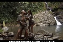 Big Busty Jane Darling & Laura Lion, greedy asses in Paradise