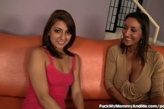 Mom And Daughter Share A Throbbing Cock