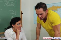 Chesty teacher Phoenix Marie take cock in classroom