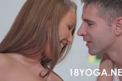 Teen Angel Blade Does Yoga And Creampied