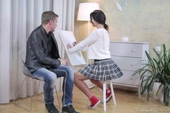 Christy gets her tricky old teacher to play