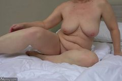 Granny with pretty girl masturbating pussy with dildo