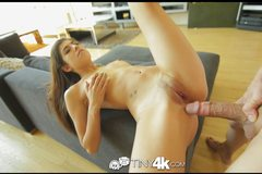Petite latina Ava Taylor is fucked hard by big cock