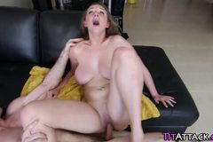 Teens natural jugs jizzed