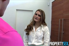 Sexy realtor Abby Cross fucks her client while be recorded