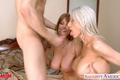 Milfs Darla Crane and Emma Starr gets fucked and facialized