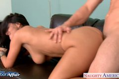 Neighbor Ava Addams gets facialized