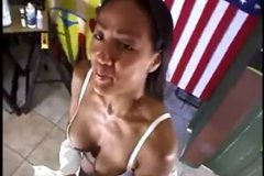 Asian MILF fucks for Mon-ay