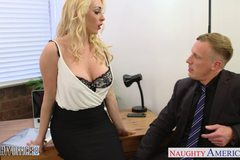 Blonde Victoria Summers ride cock in the office