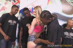 Summer Carter Gets Her Pussy Ruined By A Gang Of Black Men