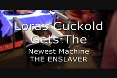 The Enslaver Mistress Lora's New machine for her cuckolds